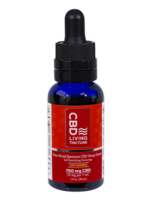CBD Living Calming Tincture 750mg Broad Spectrum nano-CBD For Maximum Absorption (THC Free)