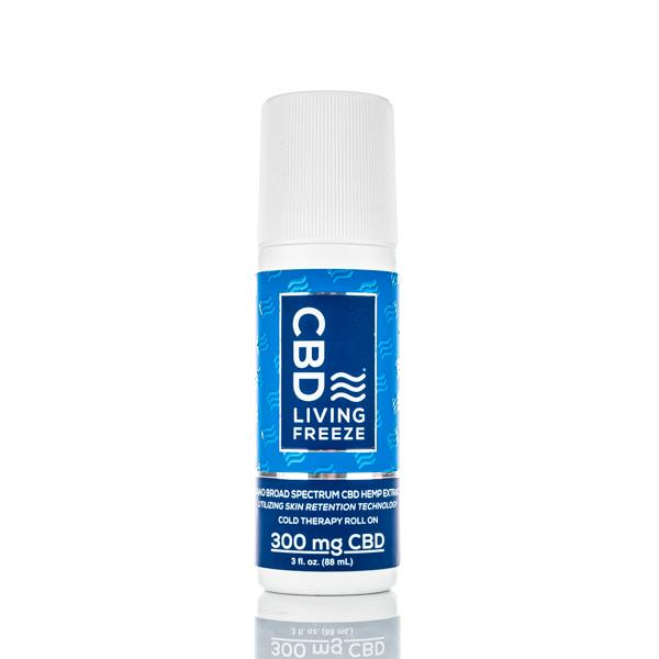 CBD Living Freeze - 300mg Broad Spectrum CBD - 3oz Roll-on