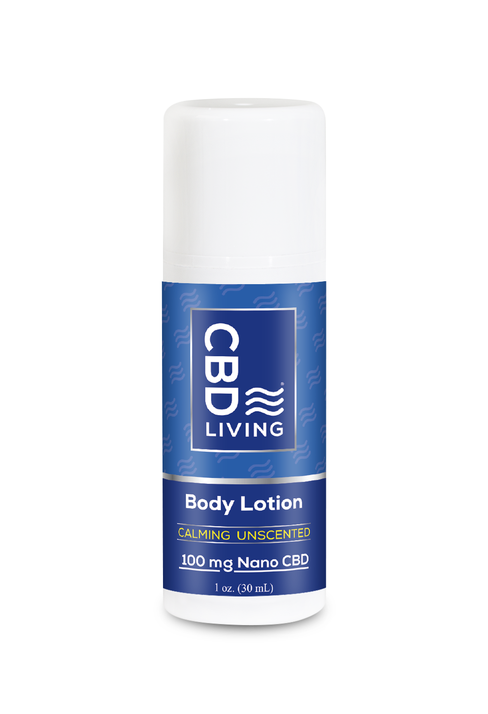 CBD Living Unscented 100mg Nano-CBD Lotion Travel Pump