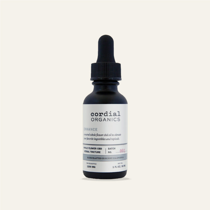 Cordial Organics Enhance 1200mg CBD Oil available at Curious Rick's Hemporium
