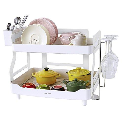 2 Tier Big Size, Smart Kitchen Sinkware Dish Rack, Dish Drying Rack, Stainless Steel