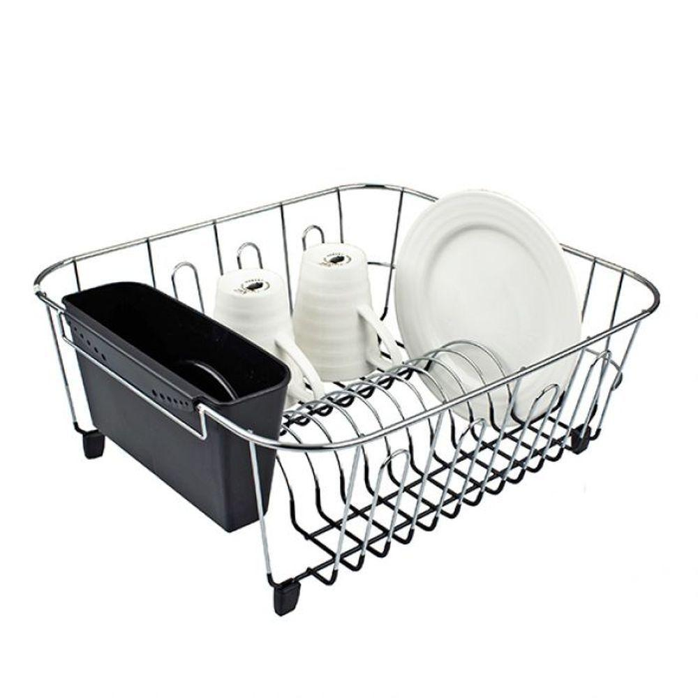 D-Line Chrome Plated Dish Rack Small Black