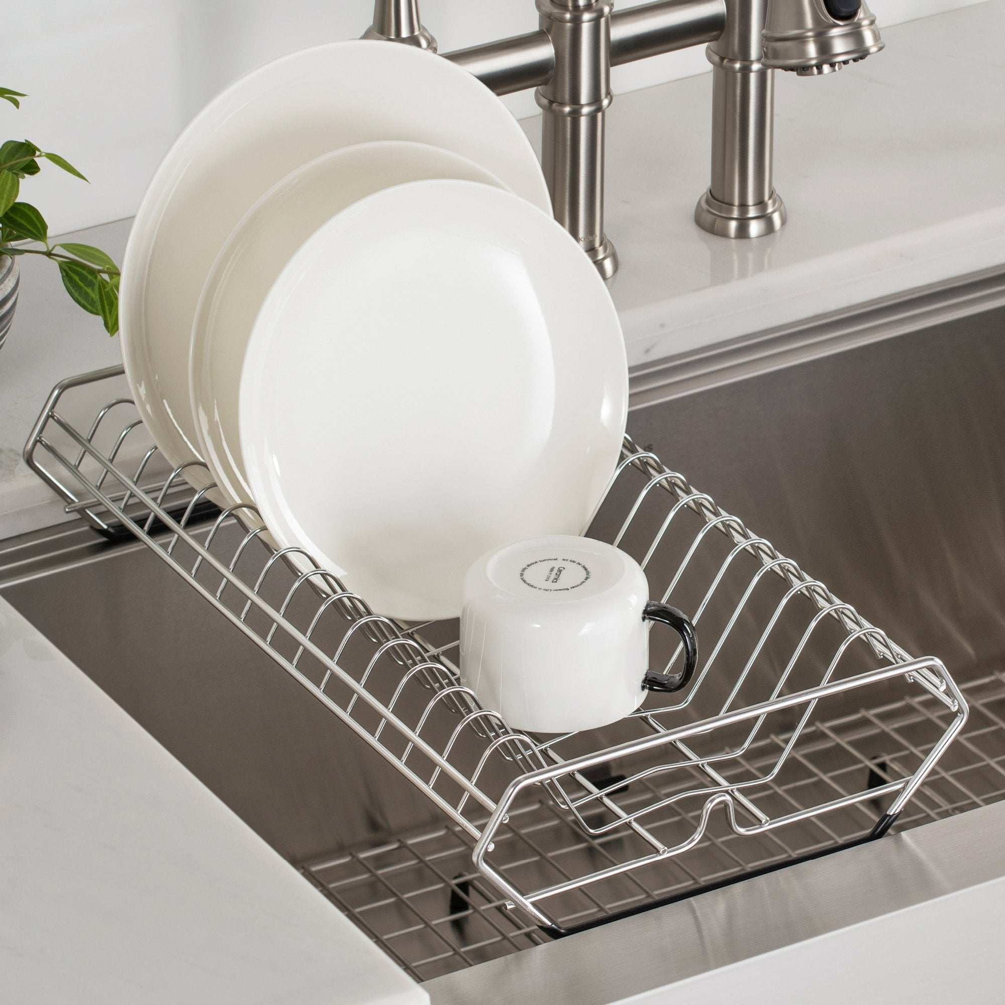 KRAUS Workstation Kitchen Sink Drying Rack in Stainless Steel-DirectSinks