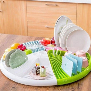 Multi Functional Triangle Shape Dish Rack