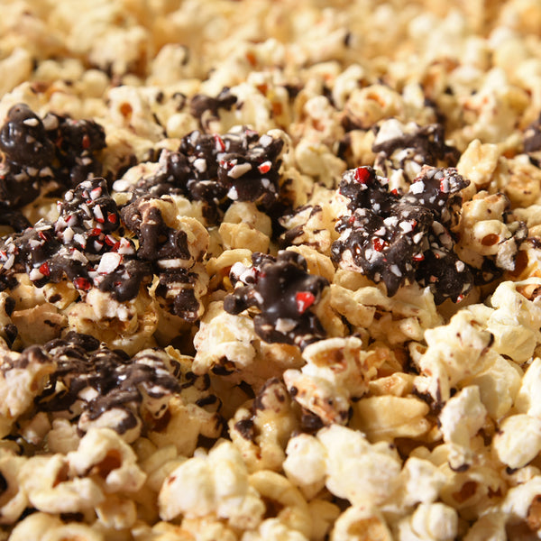 Peppermint Dark Chocolate-Drizzled K Street Kettle Korn
