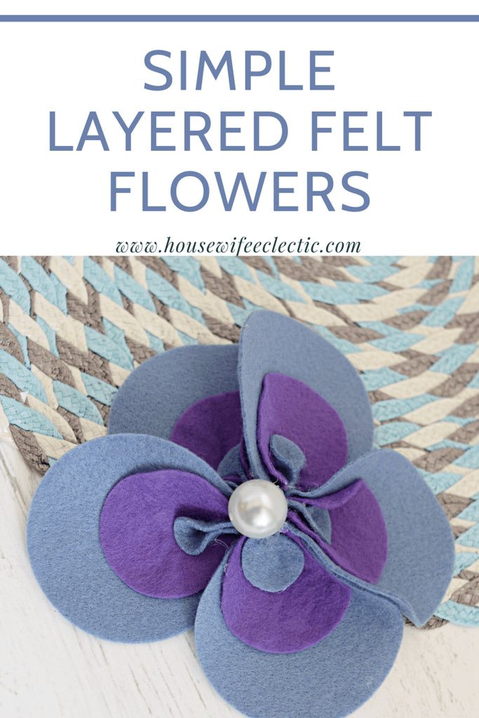 These delightful Layered Felt Flowers look intricate but are actually simple to pull together