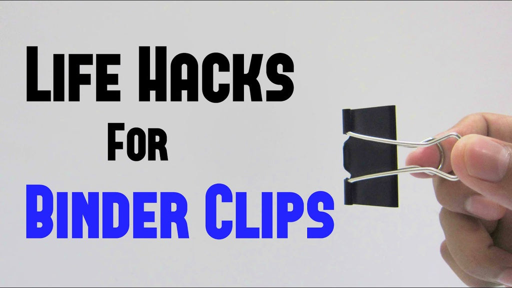 Take a quick look at some of the most common life hacks for binder clips