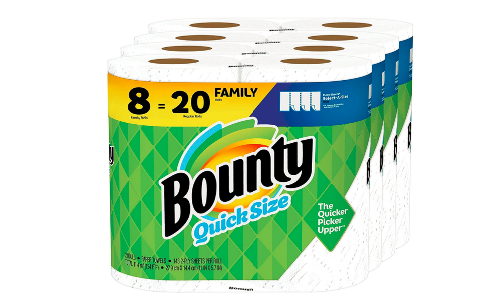 $2 Coupon! Bounty Quick-Size Paper Towels, White, 8 Family Rolls = 20 Regular Rolls {Amazon}