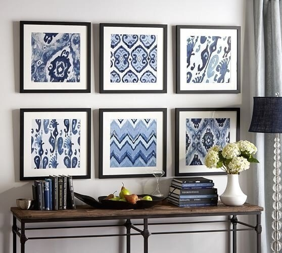 Stunning Framed Fabric Wall Art