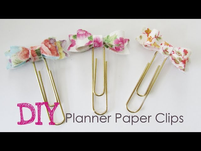 In this video, I will show you how I created my bow paper clips with fabric and cardstock