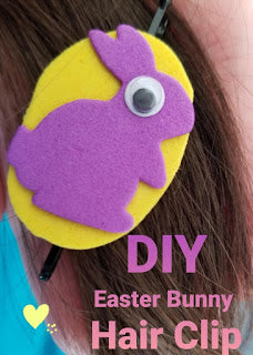 Easy DIY Easter Bunny Hair Clip