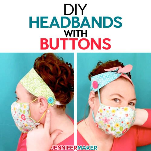 See how to make these DIY headbands with buttons for masks!