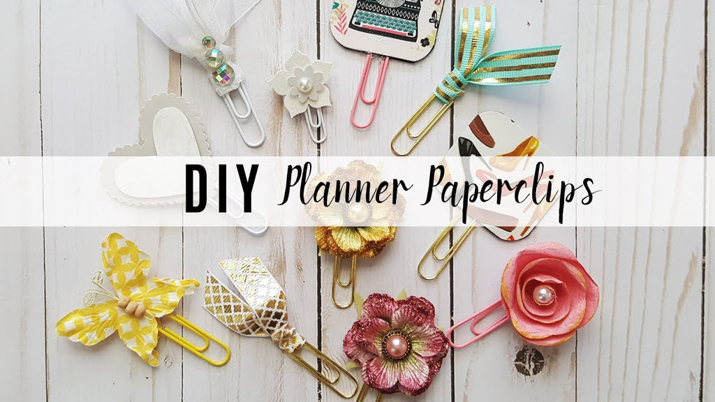 In this video, I go through the process I use to make my own planner clips out of items I have in my planner and crafting stash