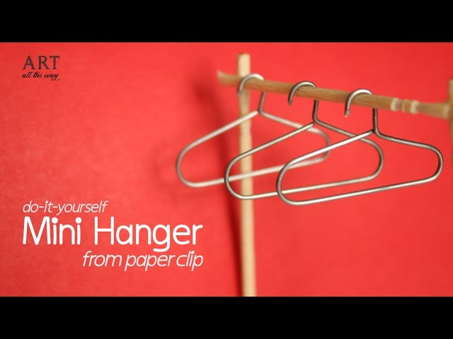 homedecorideas #dollhouse #miniwardrobe Check this video on how to make this easy Mini Hanger out of Paper Clips.