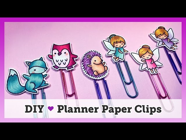 These easy DIY planner paper clips are inexpensive to make and super simple - they can be made with any stamps you have in your stash! Using coordinating ...