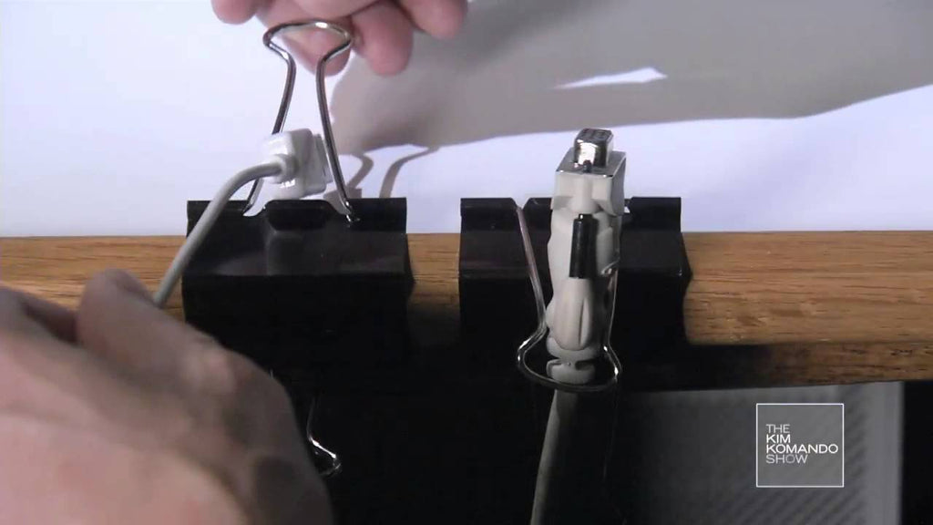 If you use binder clips just for clipping binders, you're missing out! These ingenious little tools can be re-purposed into cable clips, phone mounts and more!