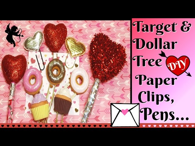 Check out these cute planner/paper clips, pens & pencils I created using Dollar Tree and Target Dollar Spot items