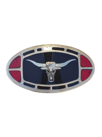 Johnson & Held Nickle Silver Longhorn Handcrafted Buckle