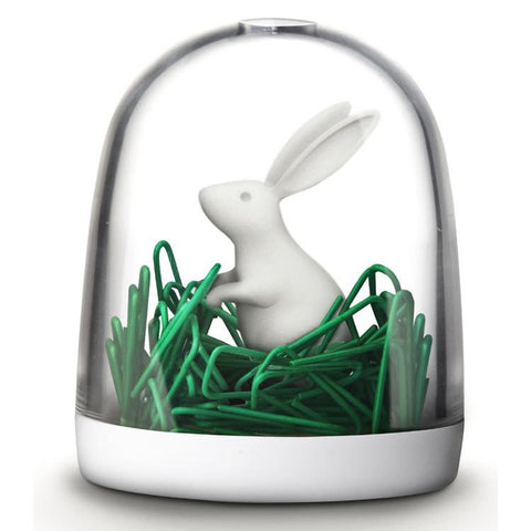 Bunny In The Field Paper Clips and Holder
