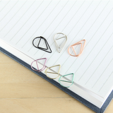 50pcs Metal Drop Shape Paper Clips Gold Silver Color Funny Kawaii Bookmark Office Shool