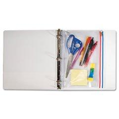 -- Zip-All Ring Binder Pocket, 8 1/2 X 11, Clear