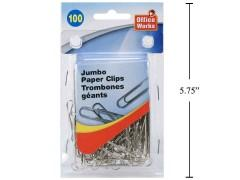 paper clips jumbo size 100 pack