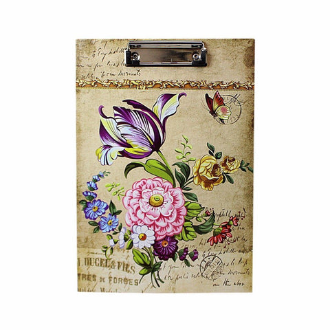 Floral Printed A4 Paper Clipboard, Office Supplies and Stationery   4798