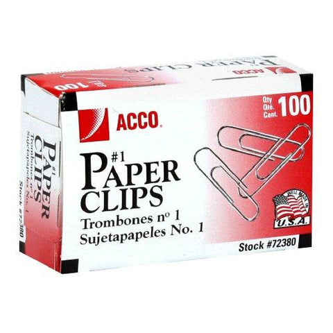 ACC-72380-X0 - Acco Smooth Economy Paper Clip