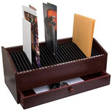 "17"" - 31 Slot Wooden Bill/Letter Organizer w/ Drawer"