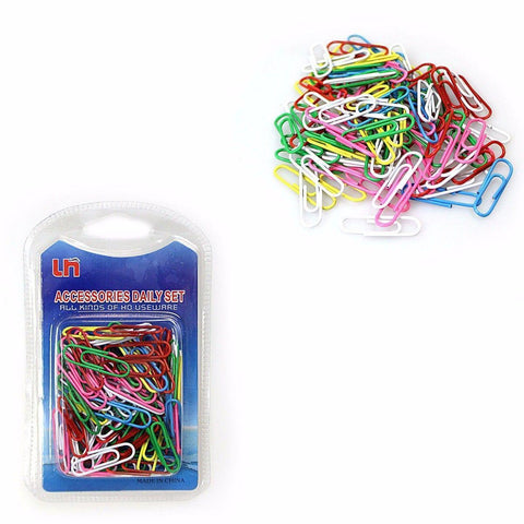 DAILY NECESSITIES ASSORTED COLOUR PAPER CLIPS   2191