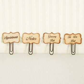 Adams & Co Metal Paper Clip Refrigerator Magnets - Set of 4