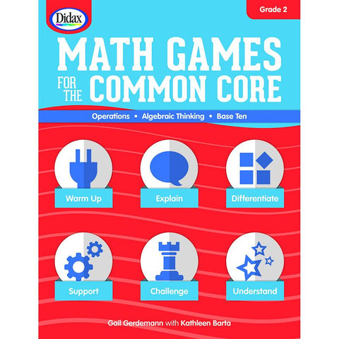 #14609 MATH GAMES FOR THE COMMON CORE GR 2