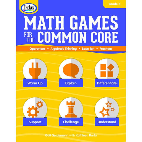 #14610 MATH GAMES FOR THE COMMON CORE GR 3