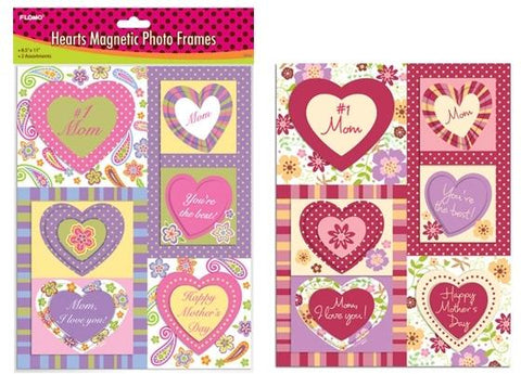 #1 Mom Magnetic Heart Photo Frames - CASE OF 48
