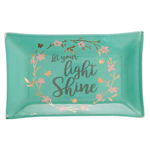 Let Your Light Shine - Matthew 5:16 Glass Trinket Tray
