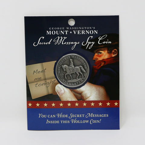 Mount Vernon Secret Message Spy Coin