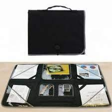 "34"" Portable And Foldable Organizer Workstation - Black By Jumbl (0460)"