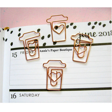 Rose Gold Coffee Paper Clips