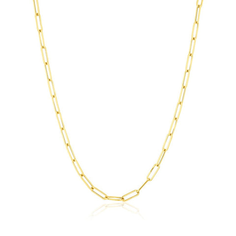 14KT Yellow Gold Paper Clip Necklace