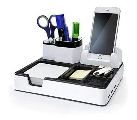 Desk Organizer Desktop Organizing System With 3 USB Ports And Charging Function, Fits iPhone, Samsung and Other Smartphones Of Up to 4 Inches From zoomyo