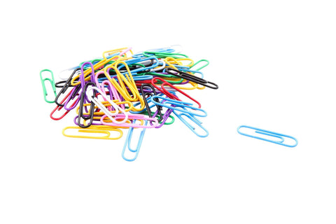 Baumgartens Vinyl Coated Paper Clips Jumbo Size 200 Pack ASSORTED Colors (ES-9400)
