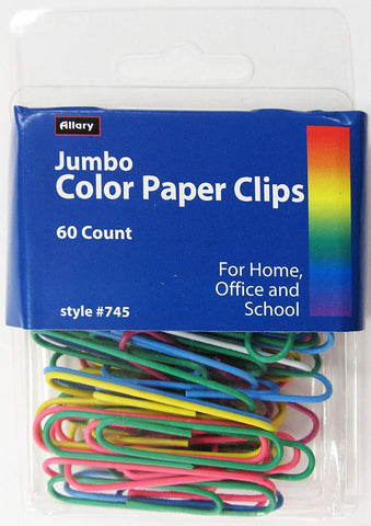 Jumbo Color Paper Clips