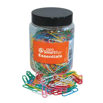 ESPO SmartBuy(TM), Paper Clips, Assorted Colours, 33Mm, Tub of 500
