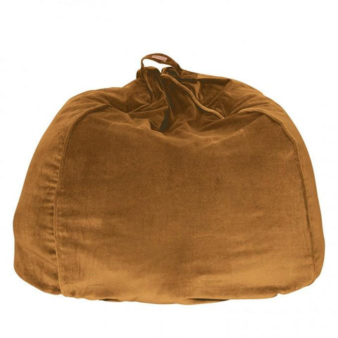 Kip & Co Scorched Almond velvet bean bag