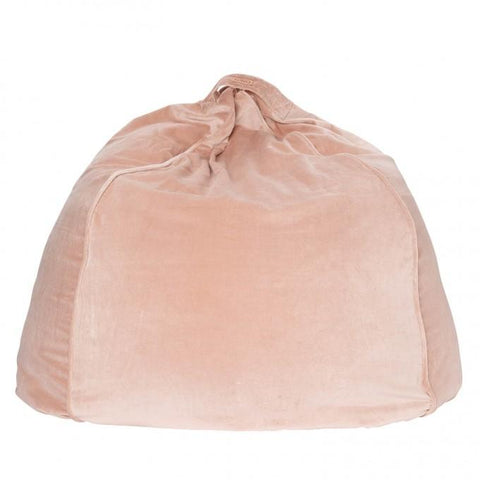 Kip & Co Spanish Villa Pink velvet bean bag