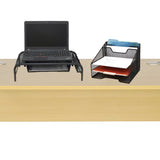 Monitor Stand with Drawer Organizer, Mesh Desk Organizer 5 Trays Desktop Document Letter Tray - 2 Piece Set