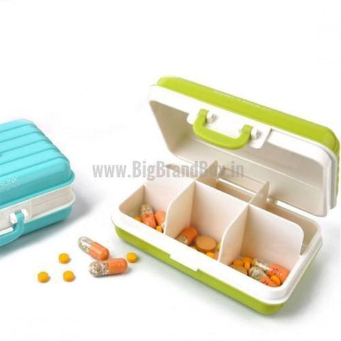 Travel Suitcase Shaped Mini Pill Box
