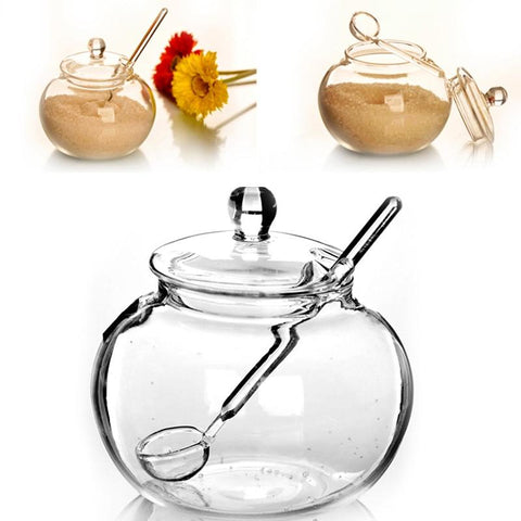 Glass Candy Jar With Spoon 250ml