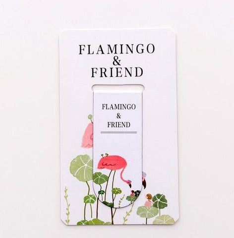 Flamingo Friend Magnet Bookmark Paper Clip School Office Supply Escolar Papelaria Gift Stationery
