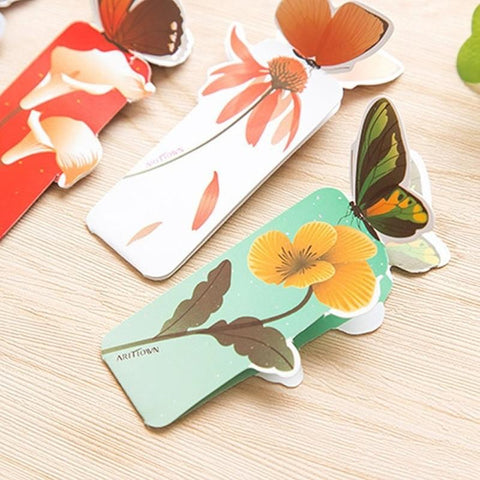 5Pcs Creative Butterfly Bookmark Cartoon Book Mark Paper Clips Stationery Gift